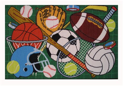 sports rugs home decor