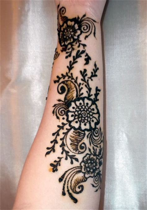 henna tattoo on lower arm henna forearm masala inspired by flowerwills on deviantart