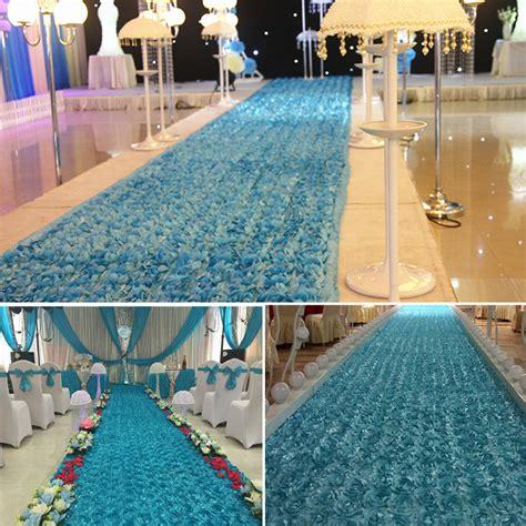 Wedding Aisle Runner Singapore by 10 Meters Satin Fabric 3d Flowers Aisle Runner