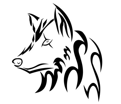 drawings of tribal tattoos easy tribal wolf drawings