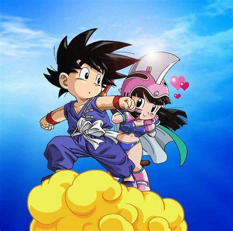 imagenes de goku y milk goku y milk anime amino