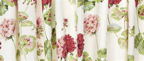 laura ashley curtains geranium pale cranberry floral cotton pencil pleat ready