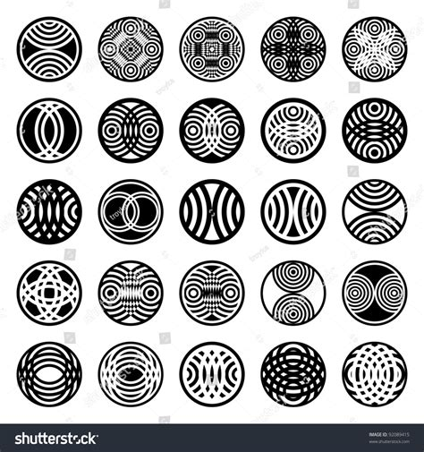 pattern circle shape patterns in circle shape 25 design elements set 1