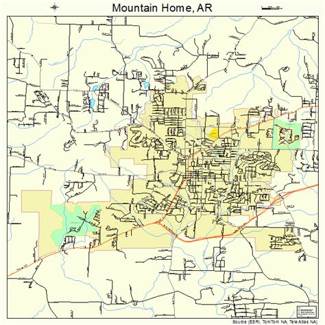 mountain home arkansas map 0547390