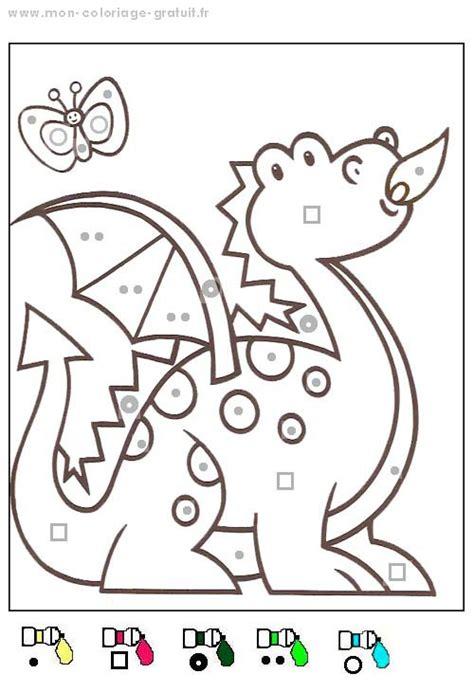 Coloriage Magique Dragon Mon Coloriage En Ligne Gratuit