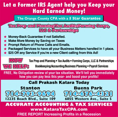 Mpa Vs Mba Accounting by Accurate Accounting Tax Services Stanton Ca 90680