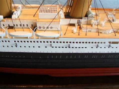billing boats rms titanic rms titanic model ship commission youtube