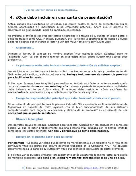 carta de presentacion bumeran c 243 mo escribir cartas de presentaci 243 n 2012