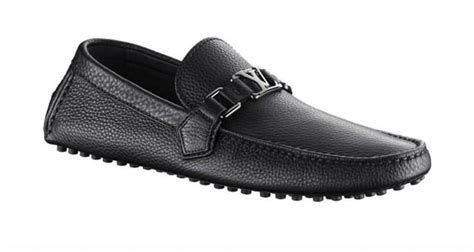 louis vuitton loafer shoes for louis vuitton lv mens black grained leather loafer shoes