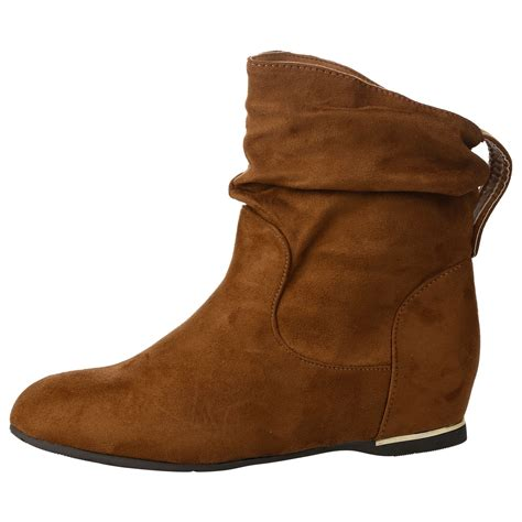 D Island Shoes Low Boots 285 new womens flat faux suede slouch low heel wedge casual ankle boots size ebay