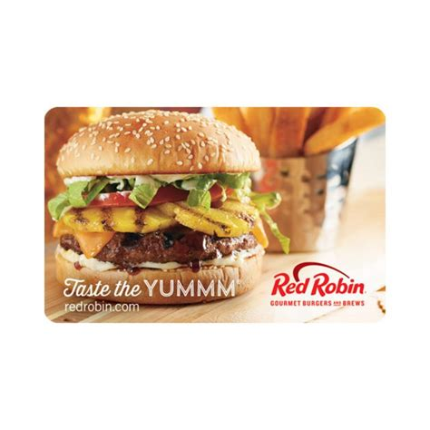 Red Robin Gift Card Special - 25 red robin gift card for 20 with email delivery