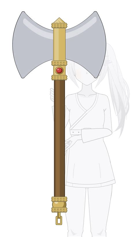 sided axe sided battle axe kisekae export by idessa on