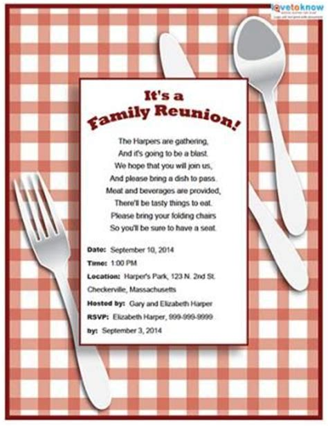 reunion invitation templates free 25 best ideas about family reunion invitations on