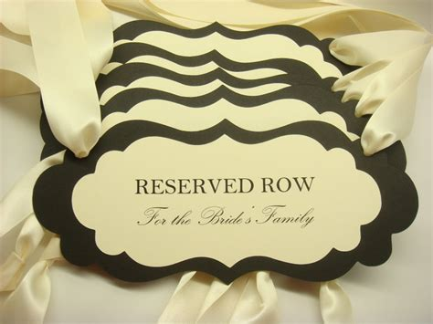 reservedseating card template ceremony 5 best images of printable wedding reserved seating signs