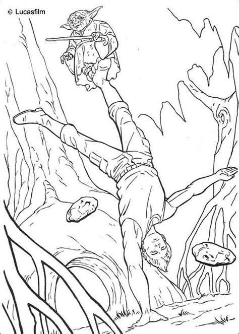 coloring pages star wars jedi jedi training coloring pages hellokids com