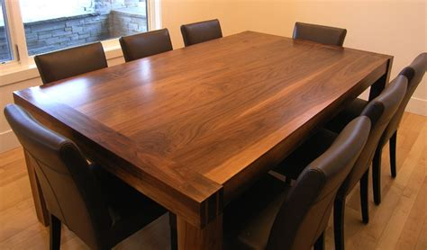 Handmade Kitchen Tables - solid walnut handmade dining room table by innovative