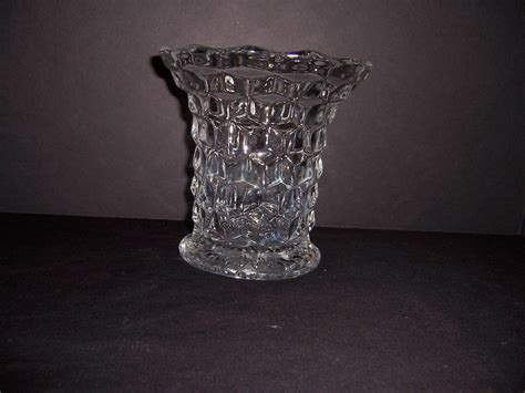 Fostoria Vase by A Resale Fostoria American Pattern Flared Footed Vase