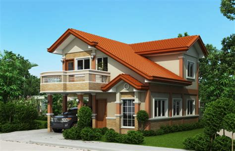two story home design with balcony design architecture