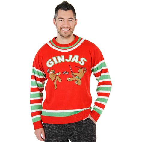 best play to get ugly christmas sweaters in az fighting ginjas gingerbread ninjas sweater