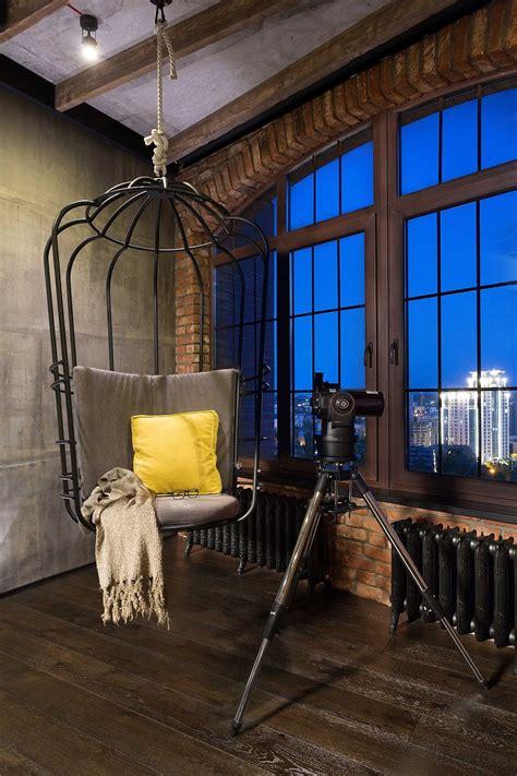 high  bachelor pad design stunning loft  kiev