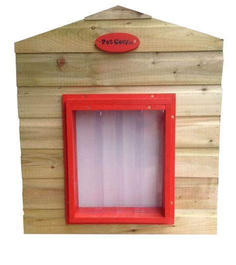 pvc dog house double pvc curtain door pet cosy dog houses