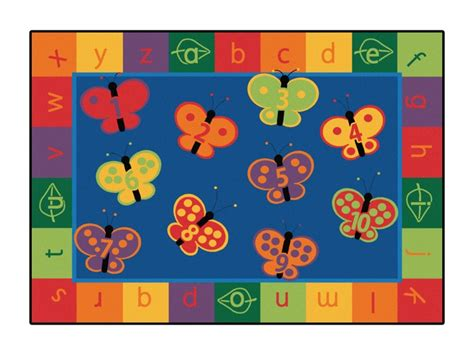 abc rugs for butterfly 123 abc classroom rug 3 10 quot x 5 5