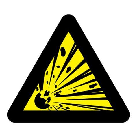 Sticker Zum Aufbügeln Auf Stoff by Sticker Gevaar Explosieve Stoffen Stickerpoint