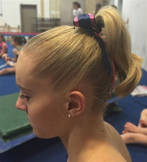 gymnastics hairstyles for fine hair cute hairstyles shoelace knot bun and pigtails 15 hair