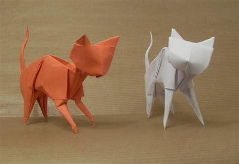 How To Make A Paper Cat - origami cats by orestigami on deviantart