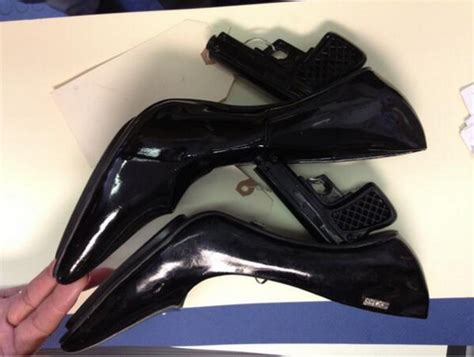 gun high heels gun high heels not a look for the airport