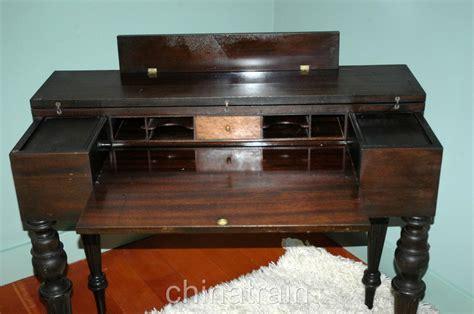 vintage maple secretary desk vintage antique flip top mahogany writing desk secretary
