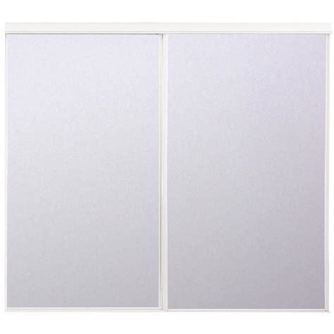 72 X 80 Closet Doors by Shop Reliabilt Flush Mirror Sliding Closet Interior Door
