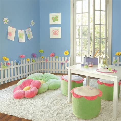 child bedroom wall decorations white wooden picket fences for kids room wall border