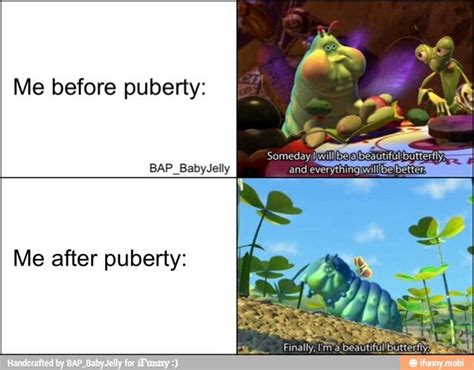 Before and after puberty.   Funny   Pinterest