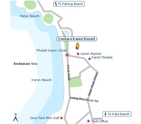 karon resort map centara karon resort phuket