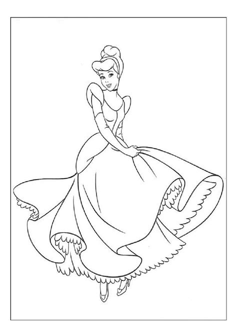 free coloring pages of cinderella