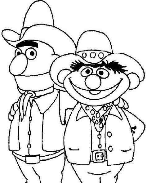 free coloring pages of bert and ernie