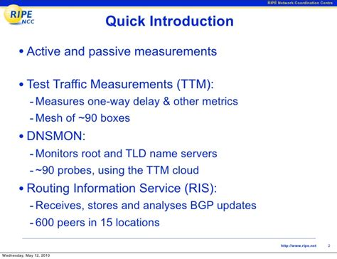 routing information service ris ripe network measurement network update