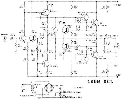 Power Lifier Ocl 400 Watt rangkaian power lifier ocl 100 watt 187 skemaku