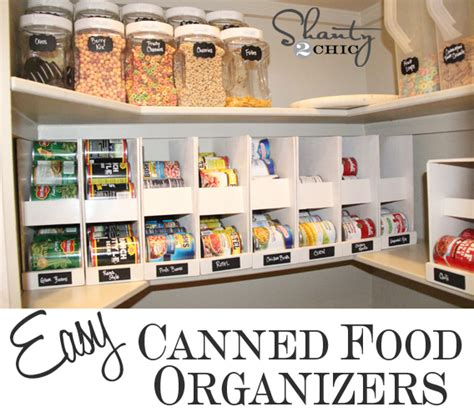 Kitchen Pantry Can Organizer Kitchen Organization Diy Foil More Organizer Shanty