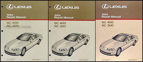 car repair manuals online pdf 1993 lexus sc seat position control 1994 lexus sc 300 400 repair shop manual original 3 volume set