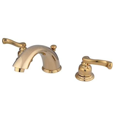 Brass Bathroom Faucets Widespread by Kingston Brass 8 In Widespread 2 Handle Mid Arc Bathroom