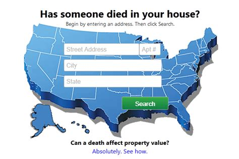 how to if someone died in your house died in house a website for finding out if someone died