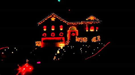 heavy metal christmas light show youtube