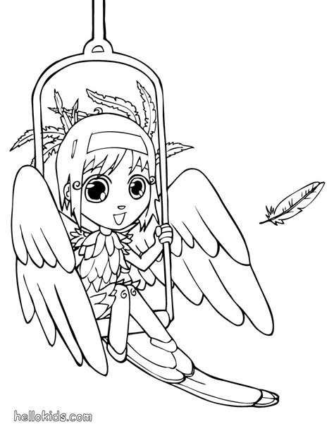 kids costumes coloring pages bird angel