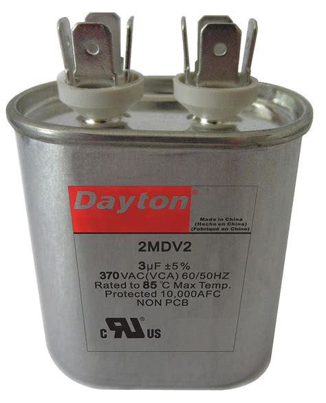capacitor ratings mfd dayton oval motor run capacitor 6 microfarad rating 370vac voltage 2mdv5 motors