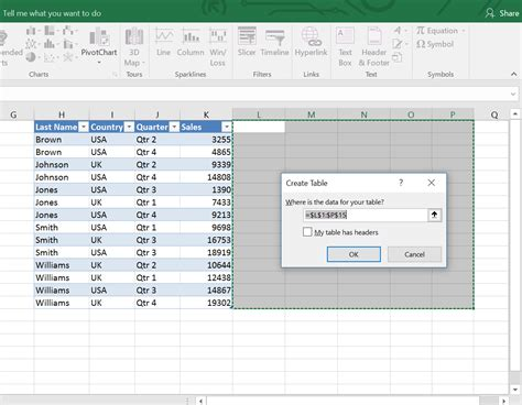 Difference Table by What Is The Difference Between A Table And A Range In Excel