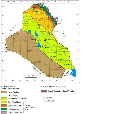 geological map of iraq origin of some transversal linear features of ne sw trend