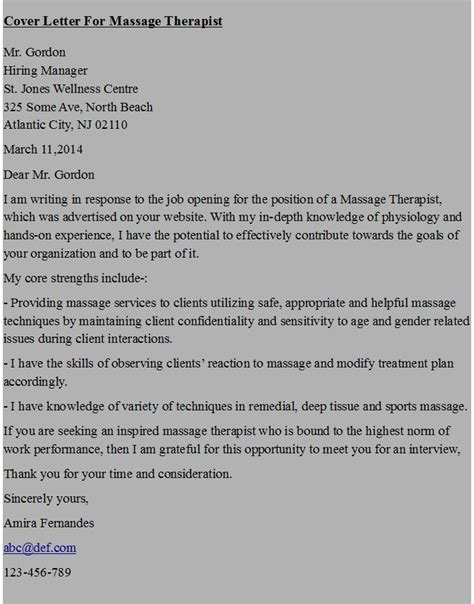 cover letter therapist therapist cover letter exle in ms word format