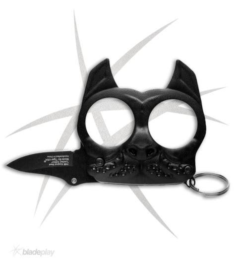 self assist knife mini brutus black self defense keychain w assist knife